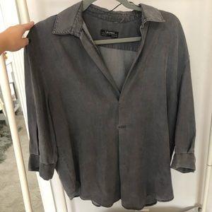 Zara gray top